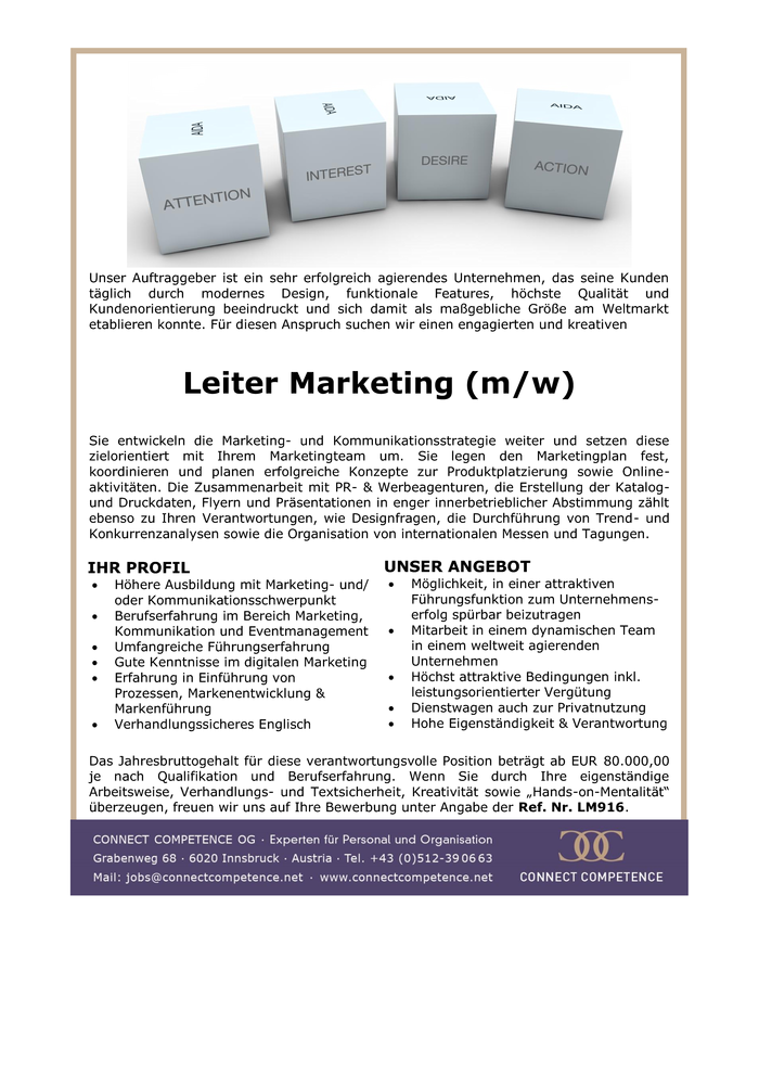 Leiter Marketing (m/w)