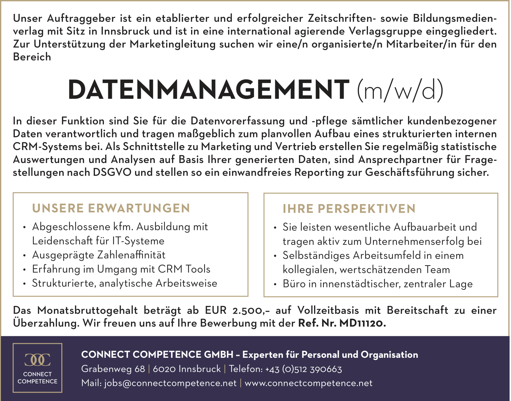 Datenmanagement (m/w/d)