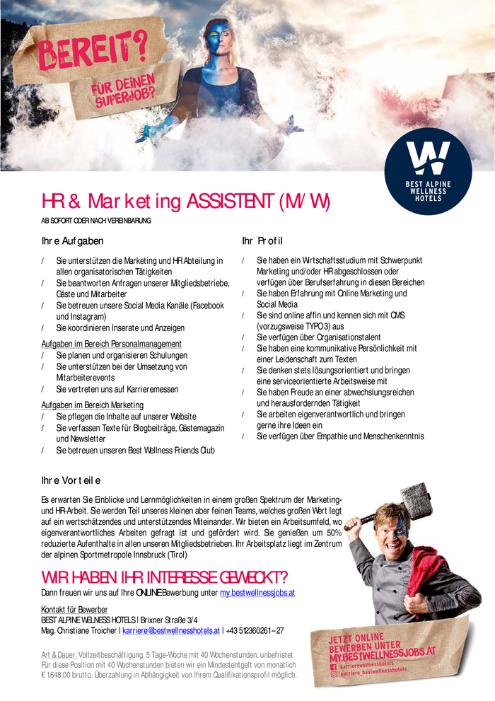 HR & Marketing AssistentIn