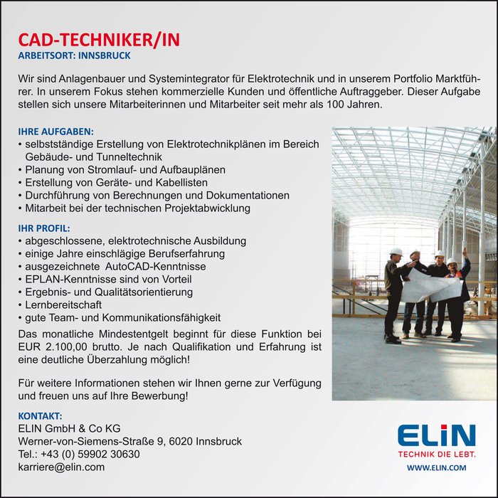 CAD-TECHNIKER/IN