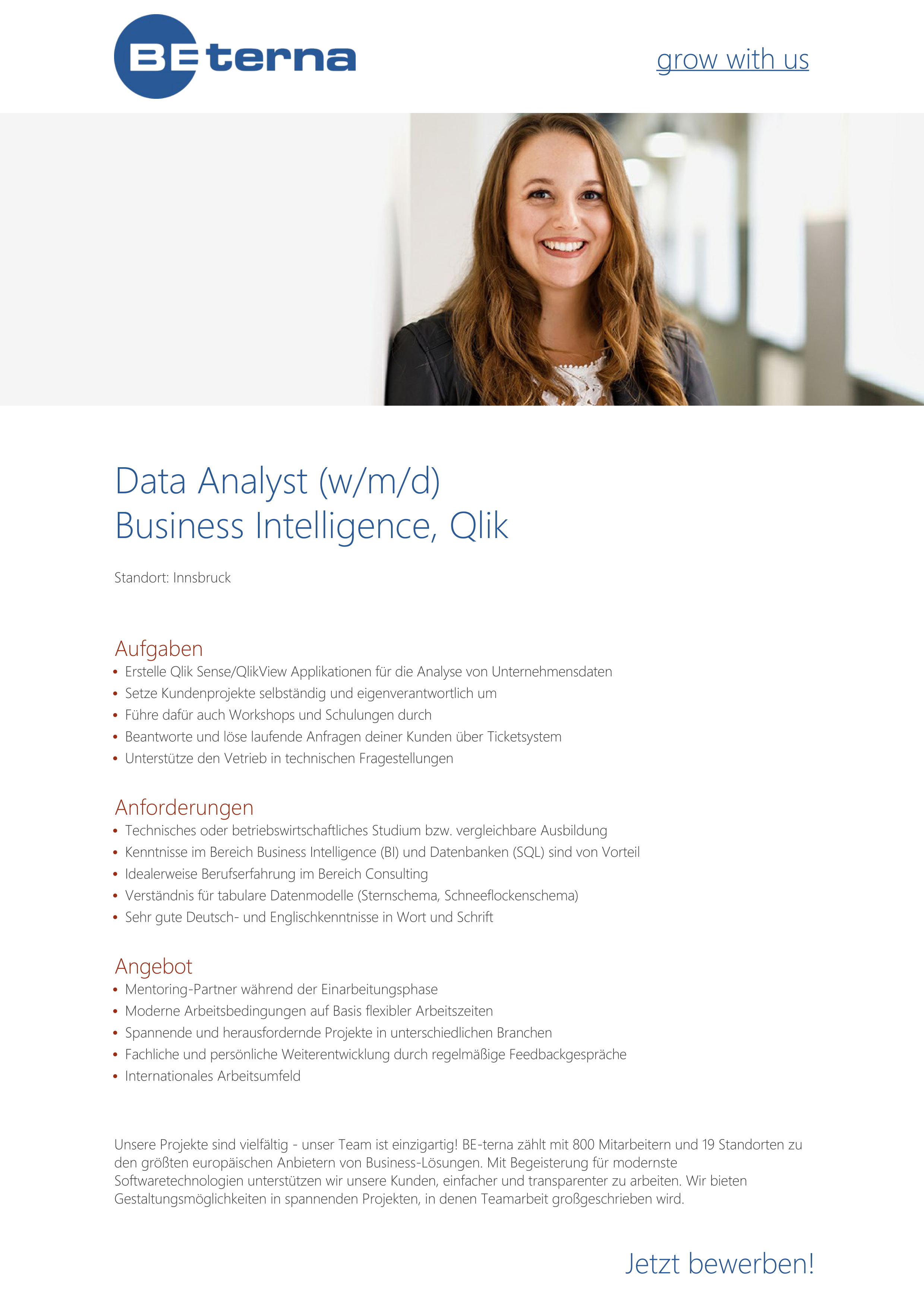 Data Analyst (w/m/d), Business Intelligence, Qlik