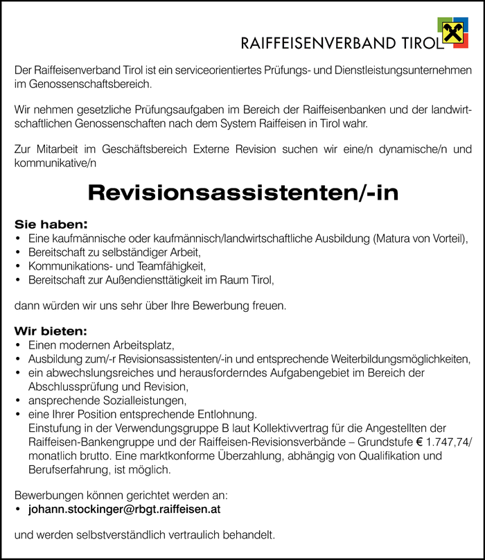 Revisionsassistent/in