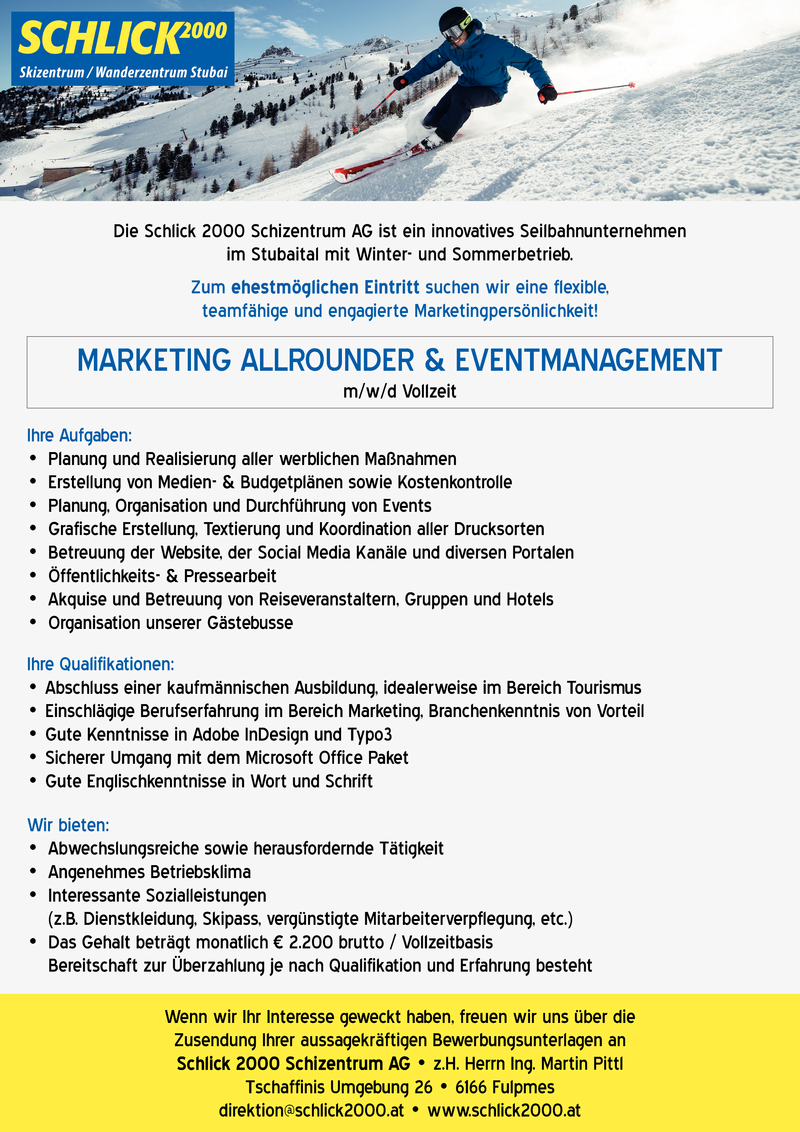 MARKETING ALLROUNDER & EVENTMANAGEMENT