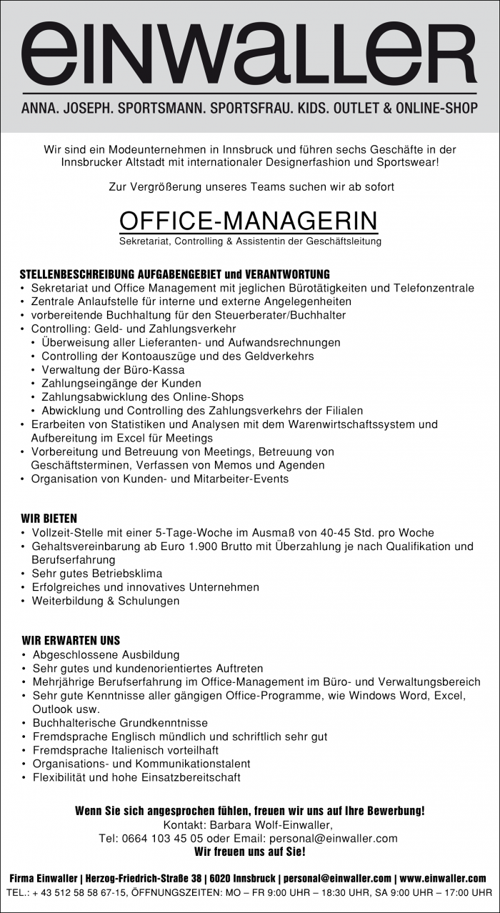 OFFICE-MANAGERIN