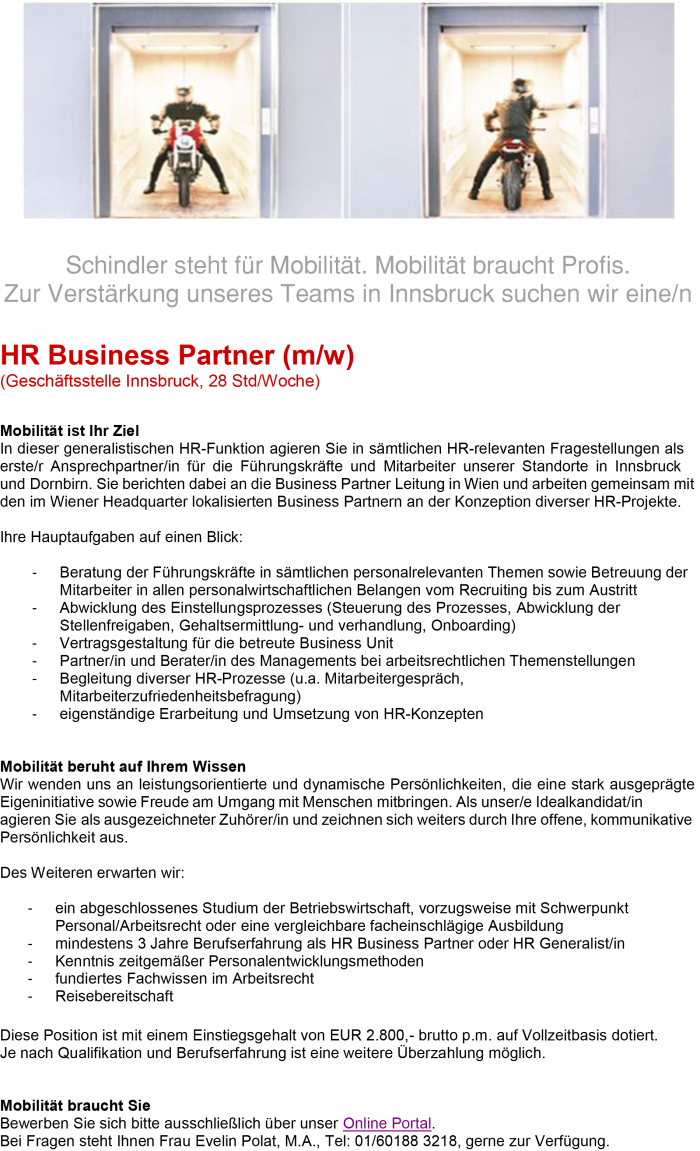 HR Business Partner (m/w)