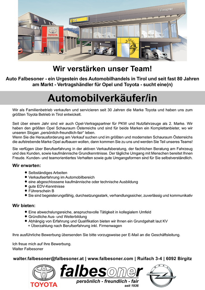 Automobilverkäufer/in