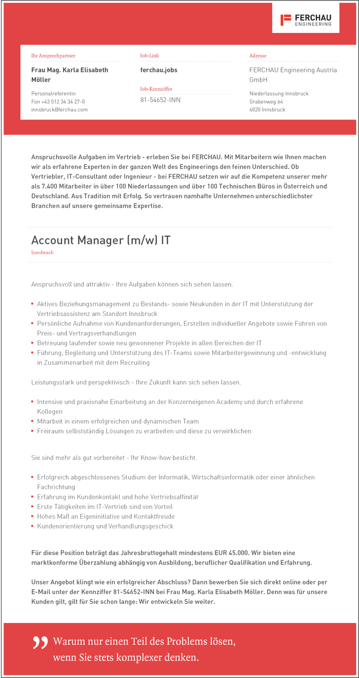 Account Manager (m/w) IT