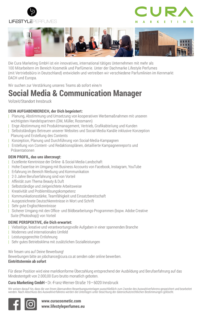 Social Media & Communication Manager (m/w)