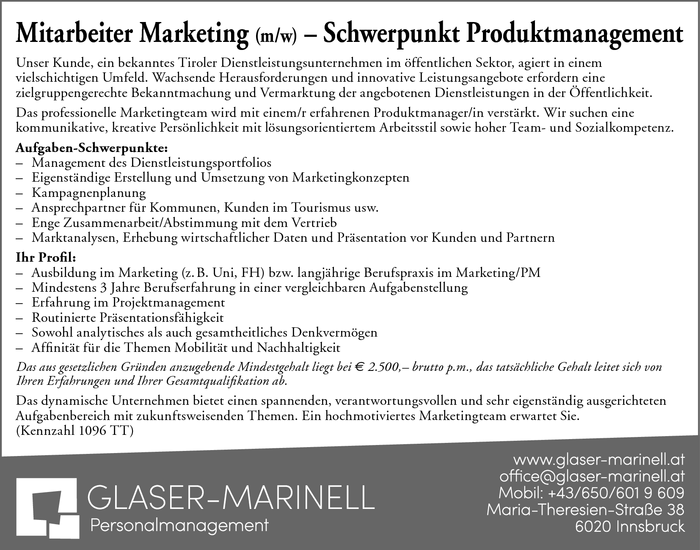 Mitarbeiter Marketing (m/w)