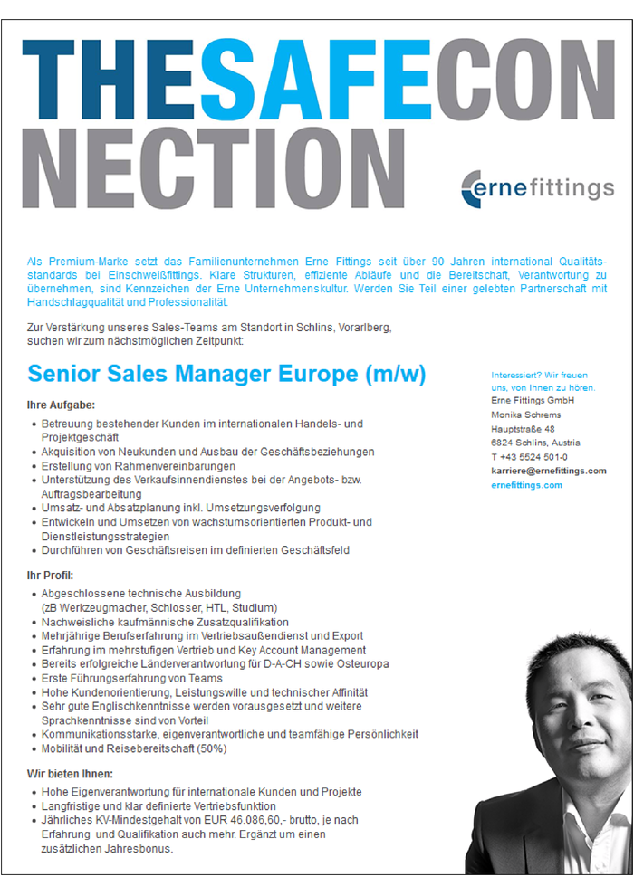 Senior Sales Manager Europe (m/w)