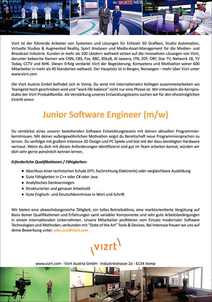 Junior Software Engineer (m/w)