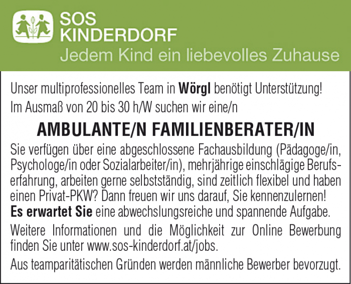 AMBULANTE/N FAMILIENBERATER/IN
