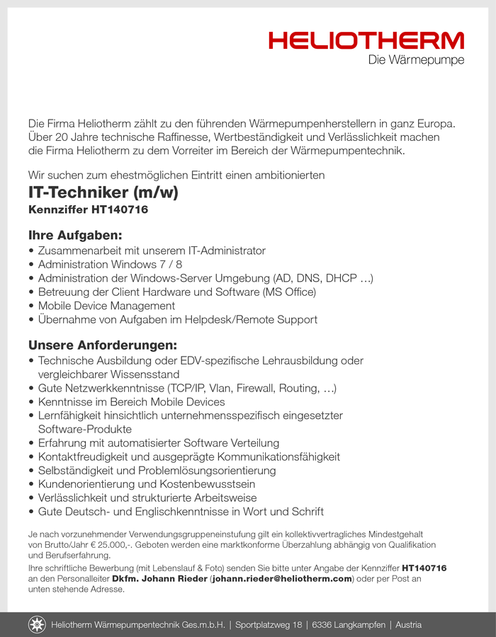 IT-Techniker (m/w)