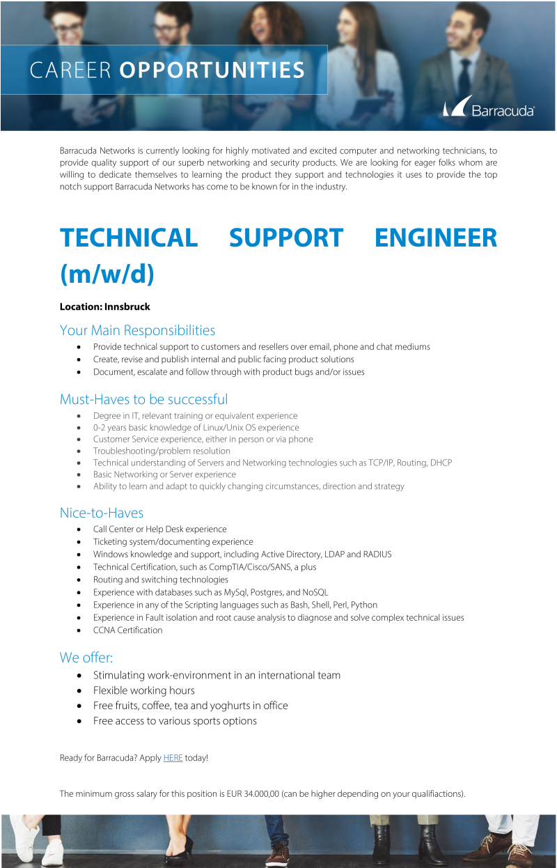 TECHNICAL SUPPORT ENGINEER (m/w/d)