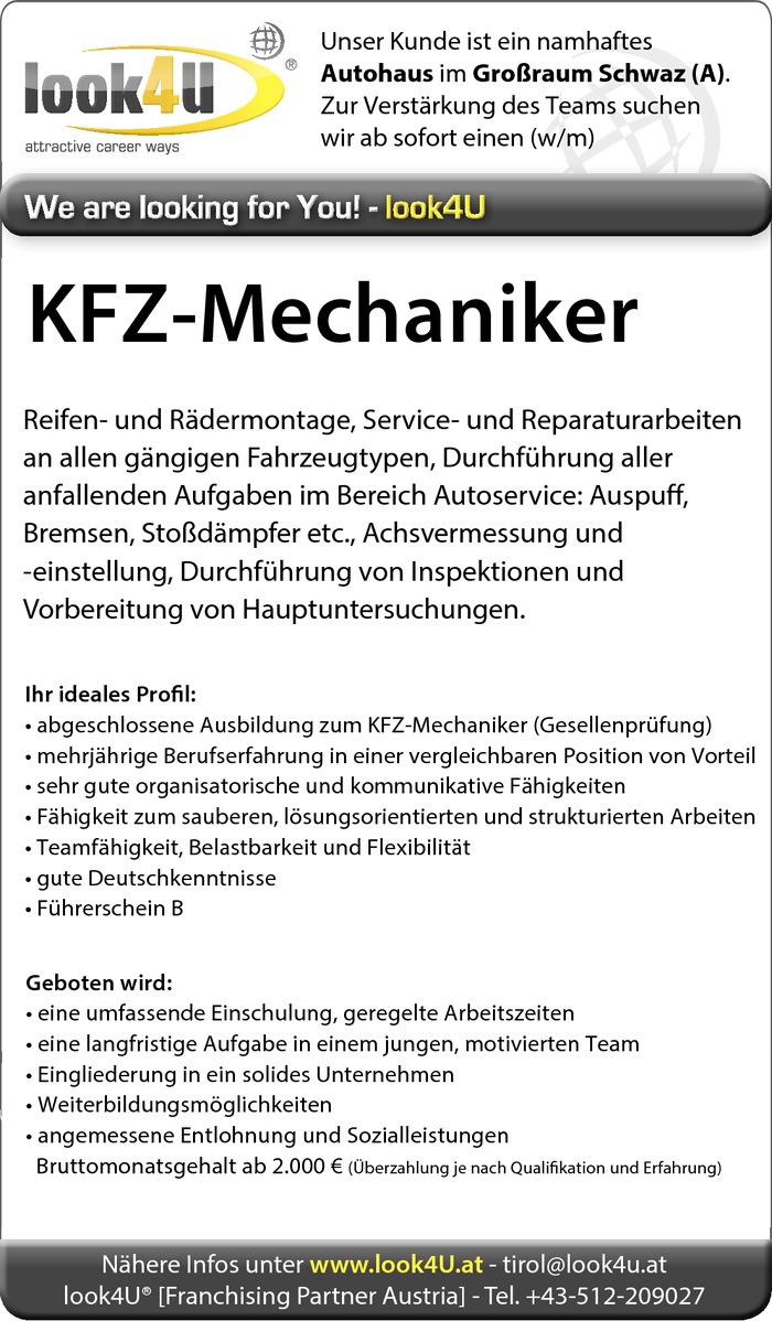 KFZ-Mechaniker (w/m)
