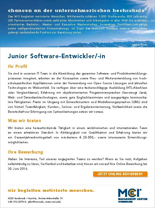 Junior Software-Entwickler/-in