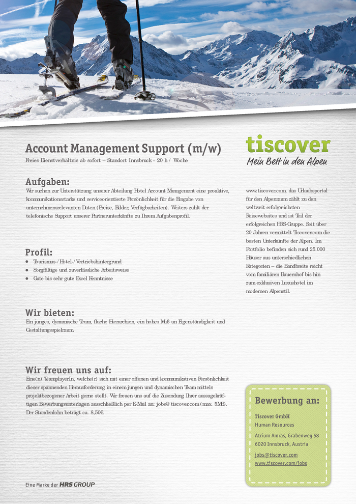Account Management Support (m/f)
