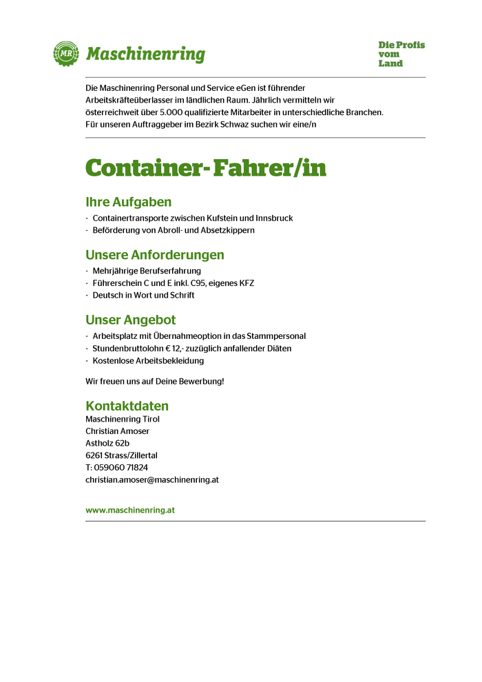 Container-Fahrer/in