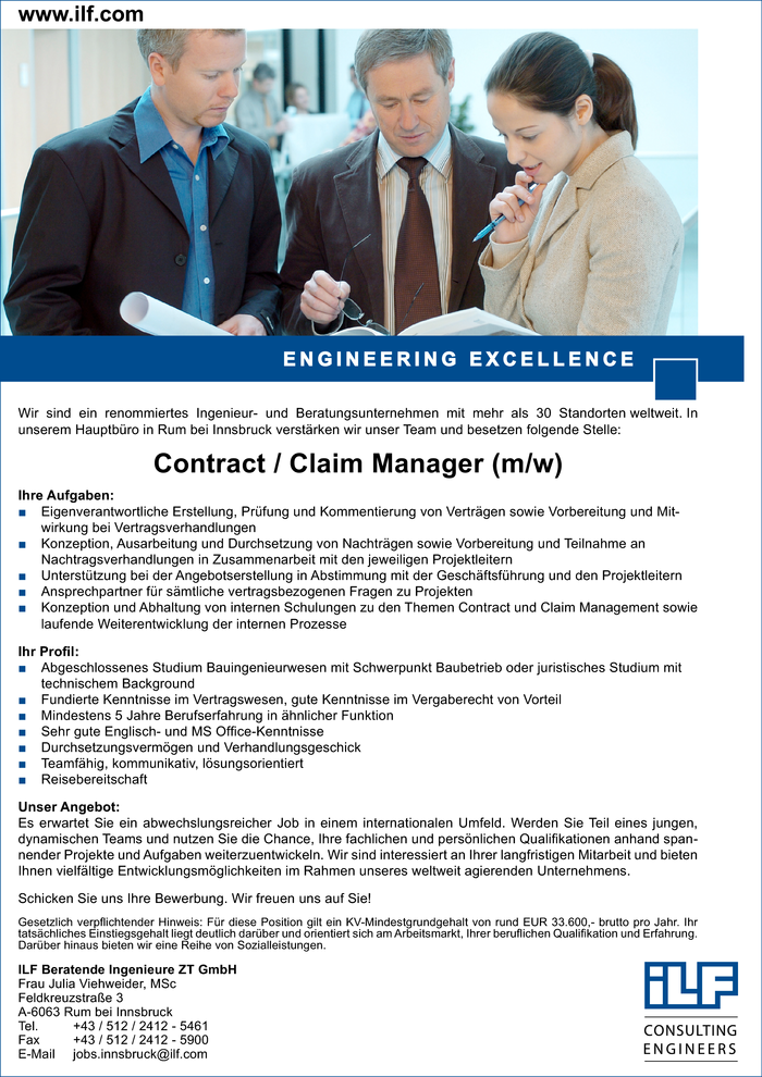 Contract / Claim Manager (m/w)