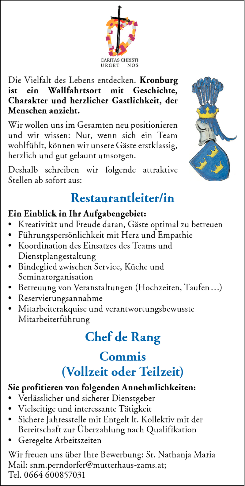 Restaurantleiter/in & Chef de Rang Commis