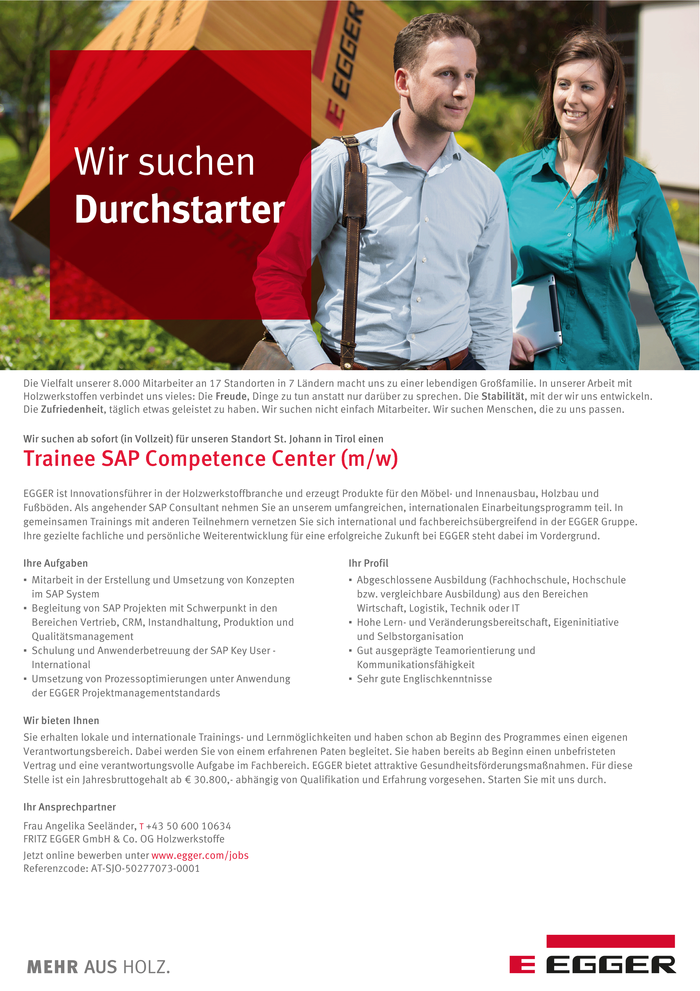 Trainee SAP Competence Center (m/w)