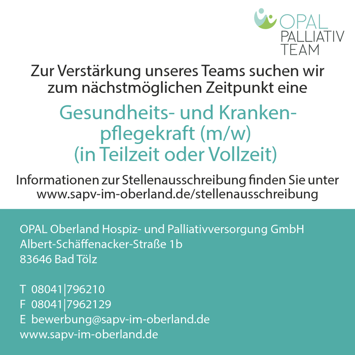 Palliativ-Care-Pflegefachkraft