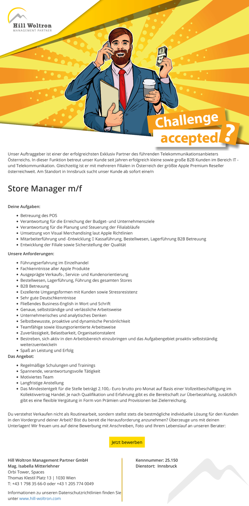 Store Manager m/f
