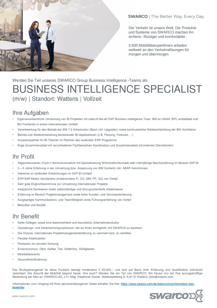 BUSINESS INTELLIGENCE SPECIALIST