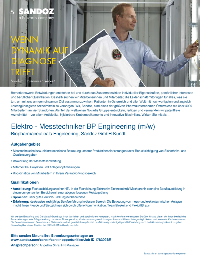 Elektro - Messtechniker BP Engineering (m/w)