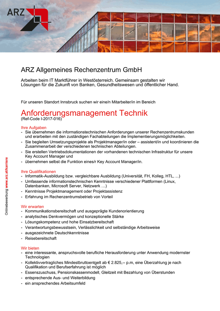 Anforderungsmanagement Technik