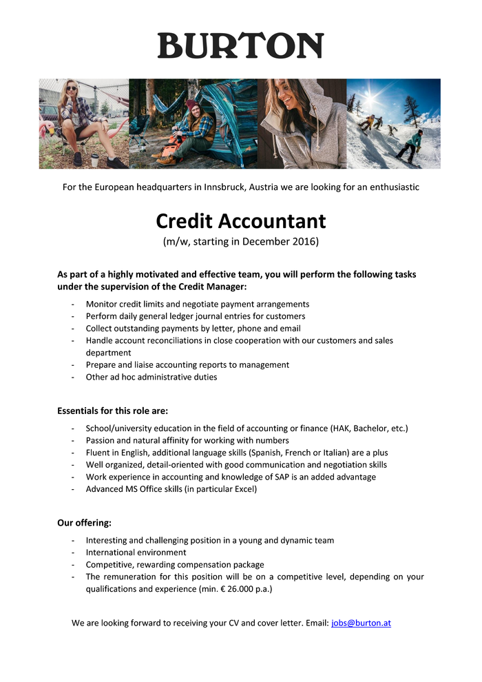 Credit Accountant (m/w)