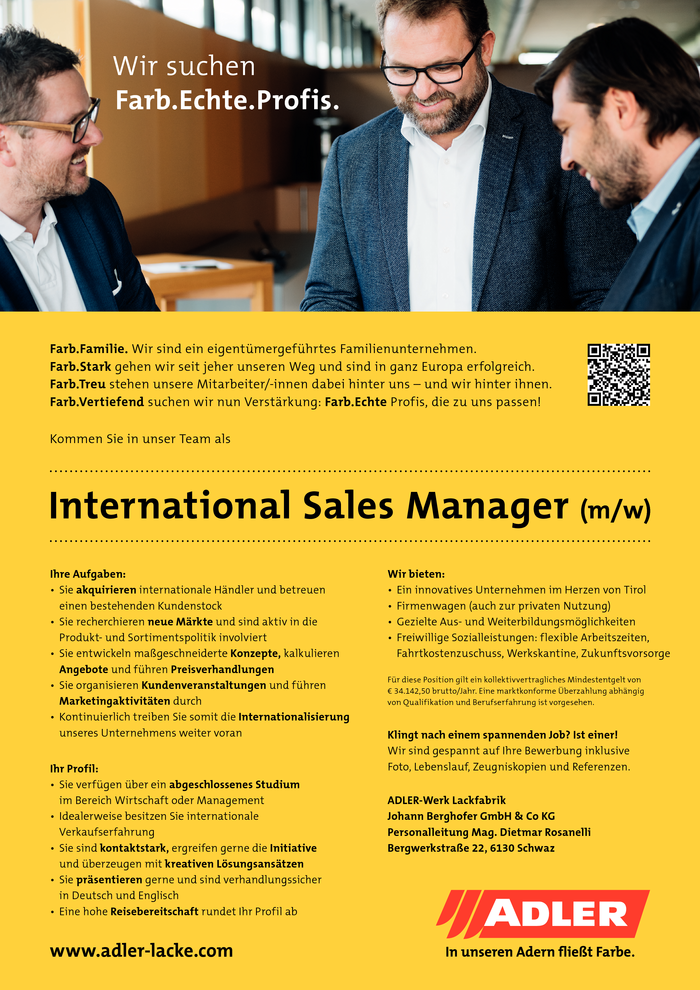 International Sales Manager (m/w)