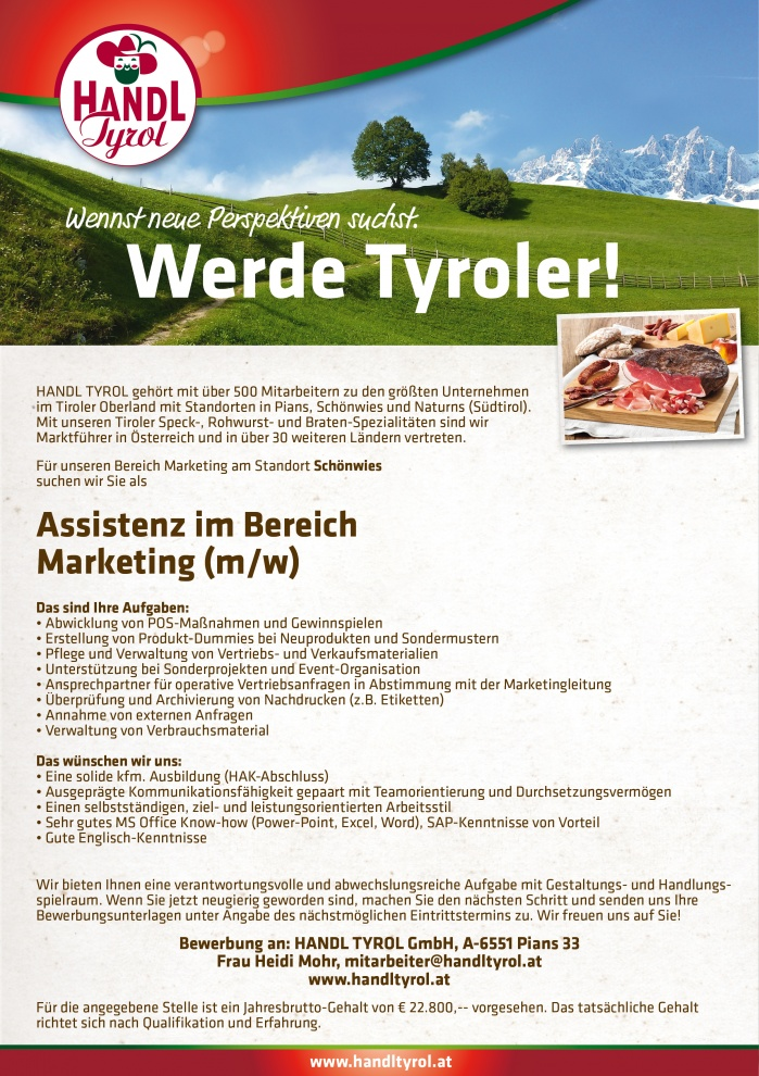 Assistenz im Bereich Marketing (m/w)