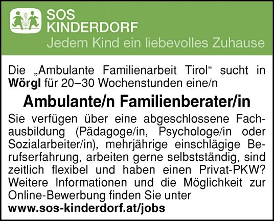 Ambulante/r Familienberater/in