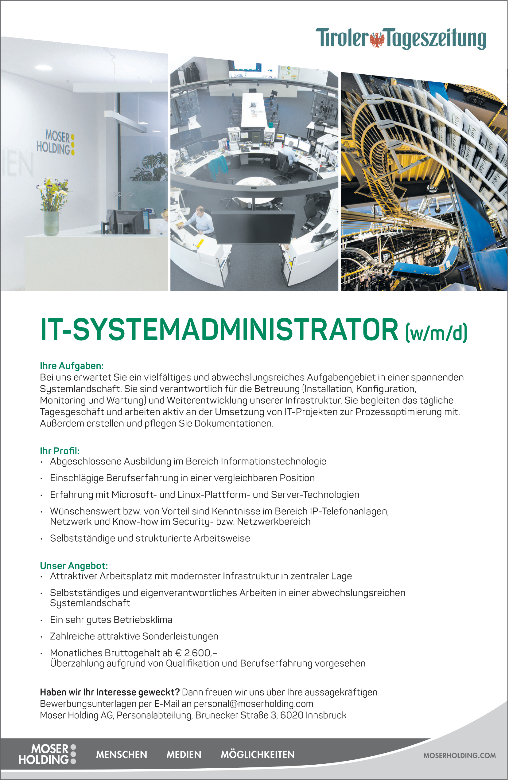IT-SYSTEMADMINISTRATOR (w/m/d)