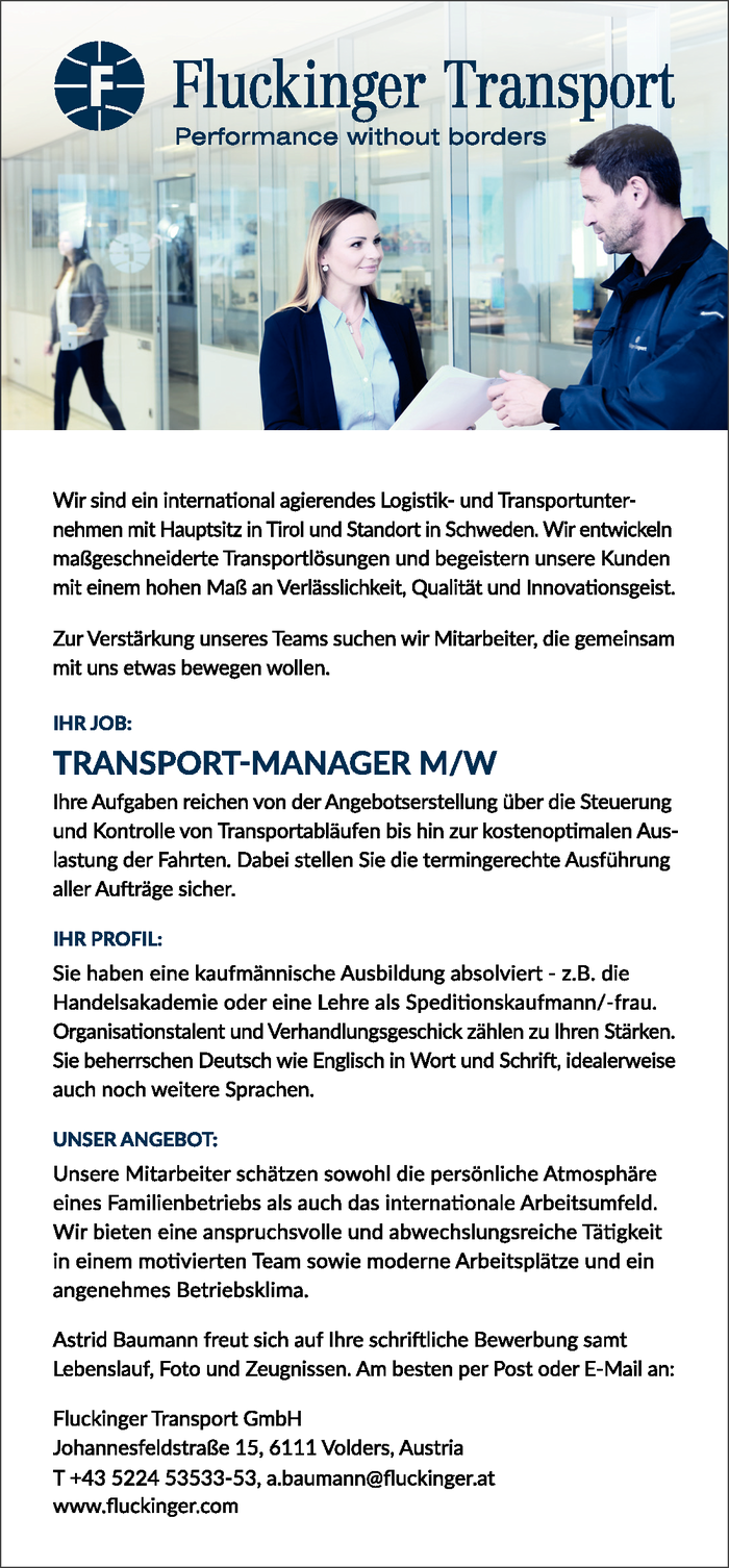 Transport Manager m/w