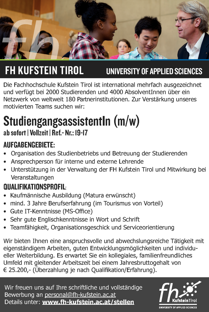 StudiengangsassistentIn (m/w)