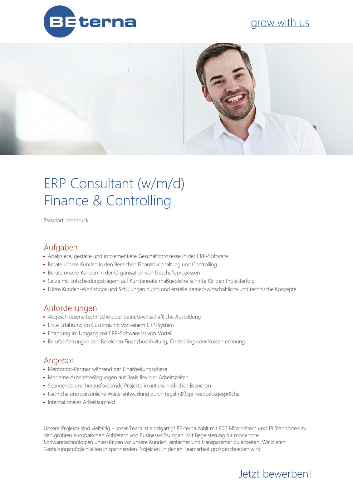 ERP Consultant Finance & Controlling (w/m/d)