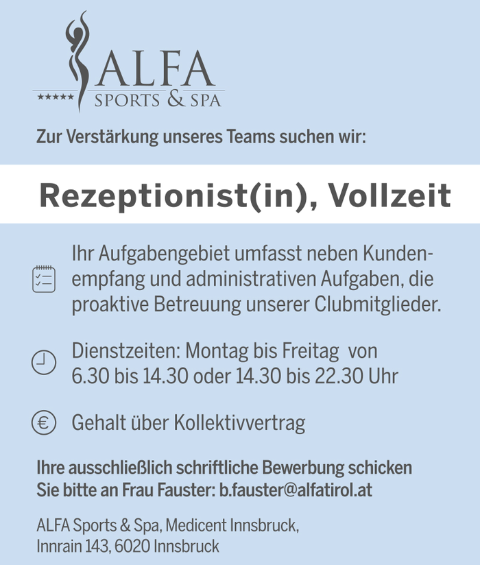 Rezeptionist(in)