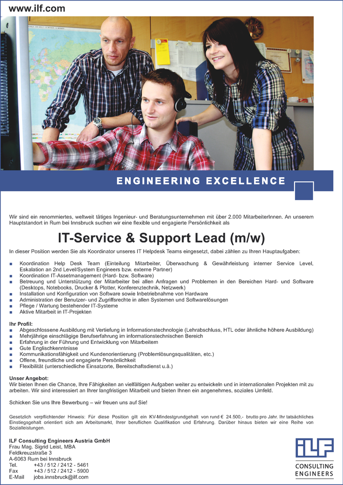 IT-Service & Support Lead (m/w)