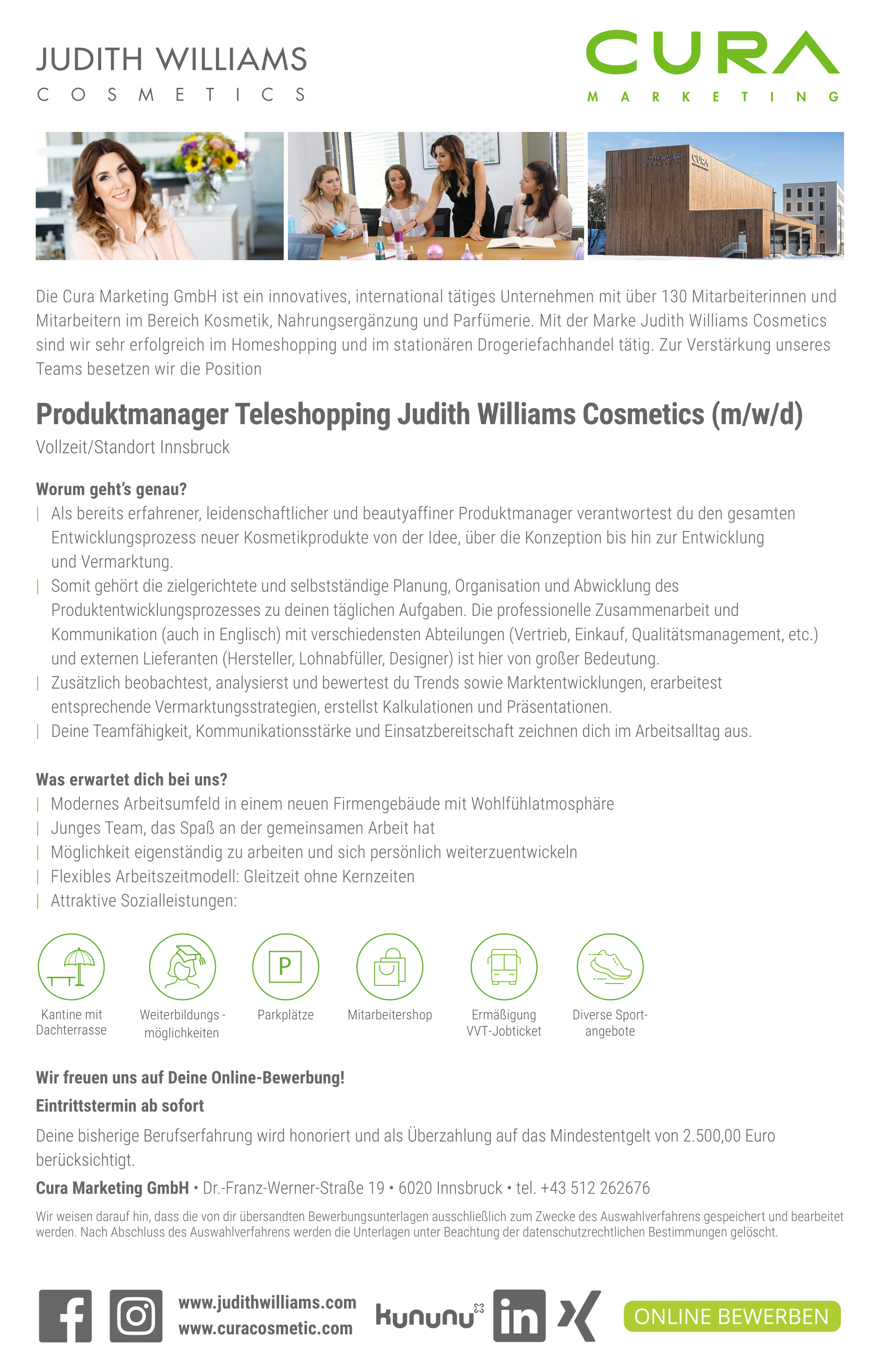 Produktmanager Judith Williams Cosmetics Teleshopping (m/w/d)