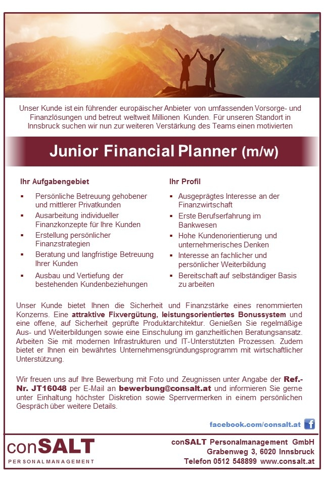 Junior Financial Planner (m/w)
