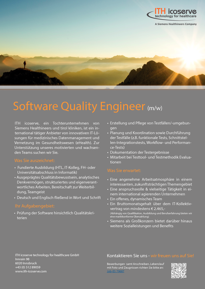 Software Quality Engineer (m/w)