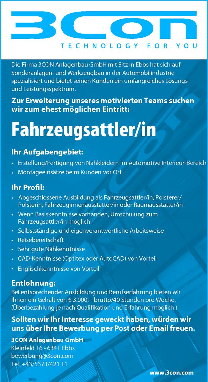 Fahrzeugsattler/in im Bezirk Kufstein - Bewirb dich auf offene ...