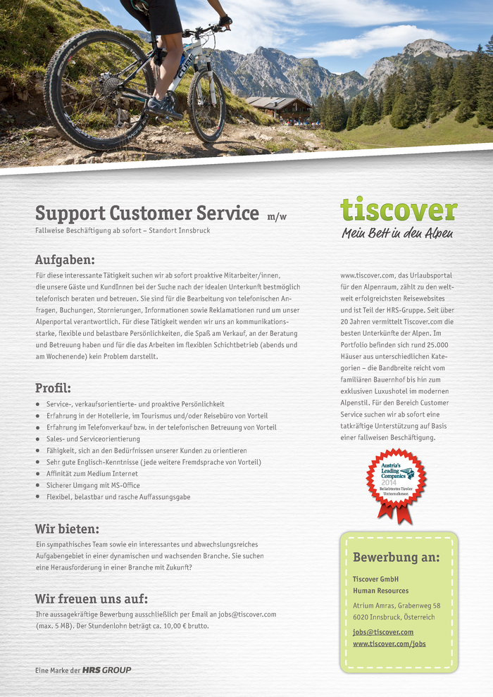 Support Customer Service (m/w)