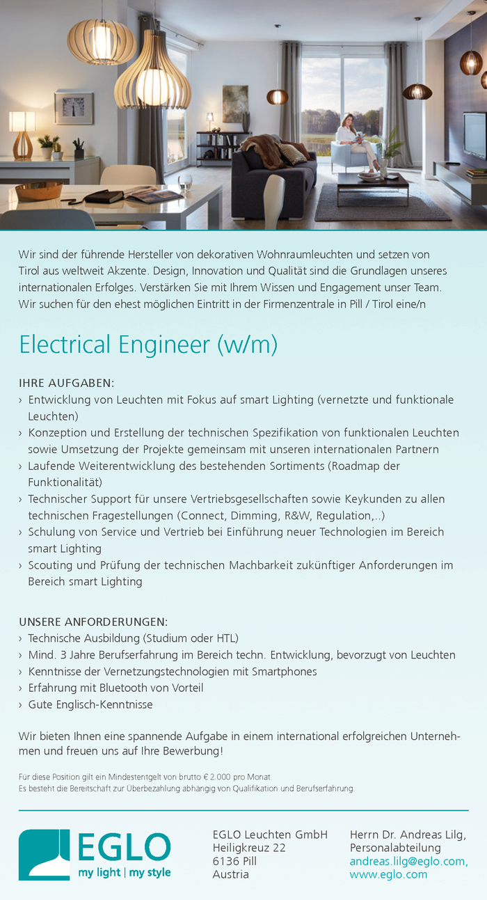 Electrical Engineer (w/m)