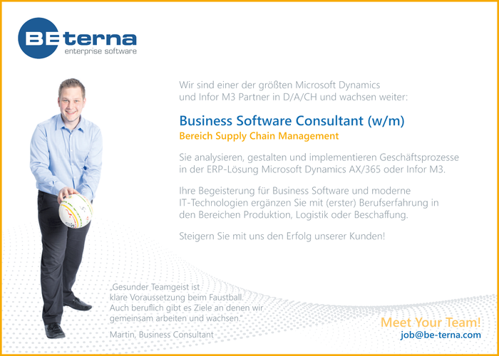 Business Software Consultant (w/m) Bereich Supply Chain Management