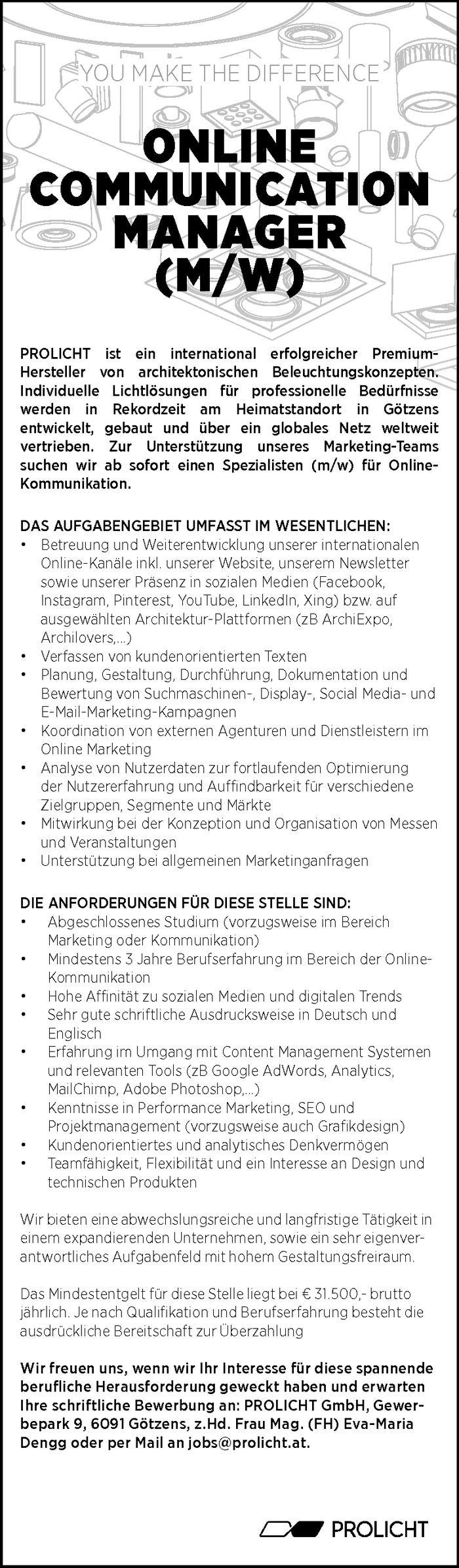 Online Communication Manager (m/w)