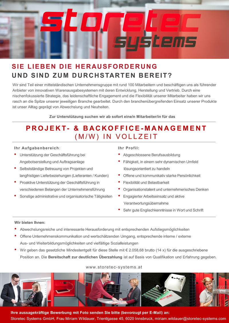 PROJEKT- & BACKOFFICE-MANAGEMENT (M/W)