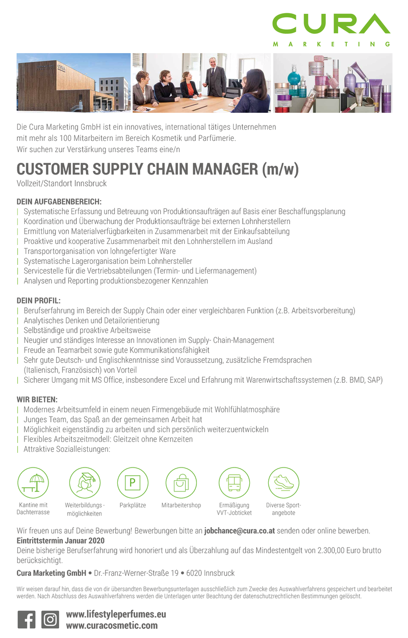 Customer Supply Chain Manager (m/w/d)